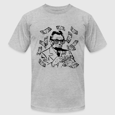 Make It Rain Abe Lincoln - Men's Fine Jersey T-Shirt