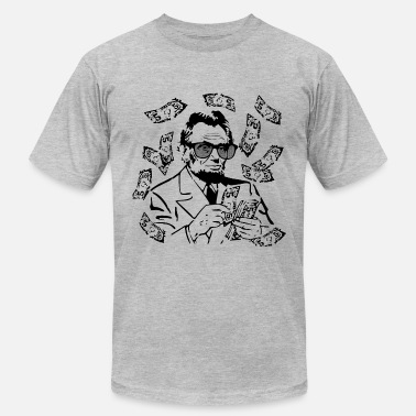 Lincoln Make It Rain Abe Lincoln - Men's Fine Jersey T-Shirt