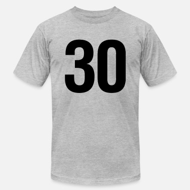 Number 30 helvetica number 30 - Men's  Jersey T-Shirt