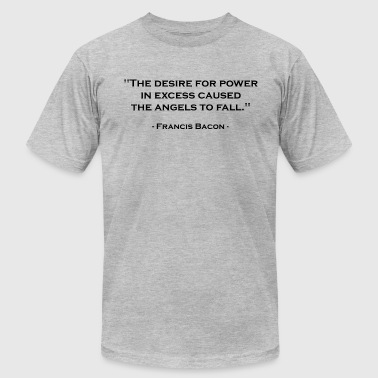 Francis Bacon Francis Bacon on Power (Black) - Men's Fine Jersey T-Shirt
