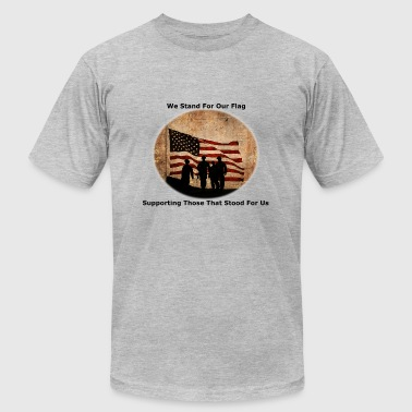 Veterans Charity Stand for The Flag - Men's Fine Jersey T-Shirt