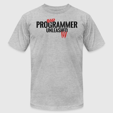 wild programmer unleashed - Men's Fine Jersey T-Shirt