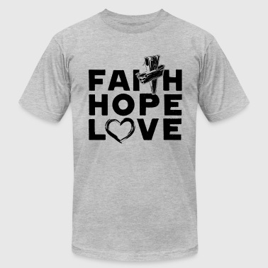 Christian Faith Hope Love Shirt - Men's Fine Jersey T-Shirt
