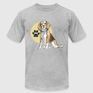 Border Beagle Beagle - Men's Fine Jersey T-Shirt