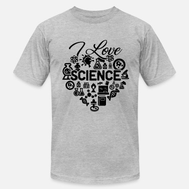 i Love Science I Love Science - Men's Fine Jersey T-Shirt