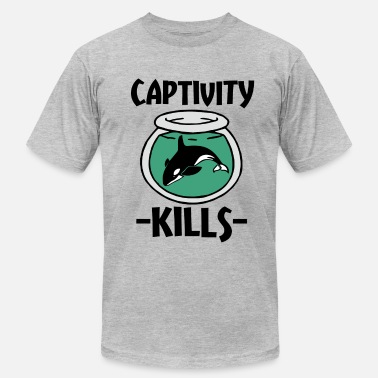 Captive Orcas Captivity Kills Orca Whales shirt - Men's  Jersey T-Shirt