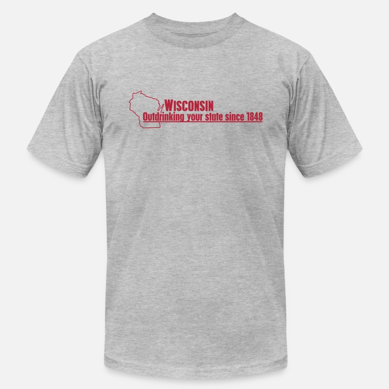 7c6795526 Shop Wisconsin Drinking T-Shirts online | Spreadshirt