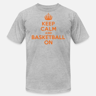Crown Basketball Keep calm and basketball on crown - Men's  Jersey T-Shirt