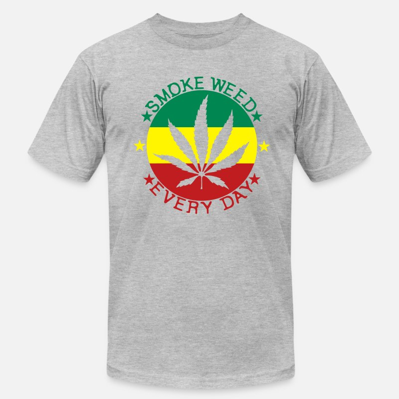 Weed T-Shirts - smoke weed every day - Men's Jersey T-Shirt heather gray