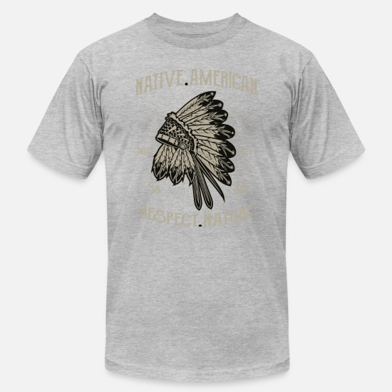 Native American T-Shirts - Native American 1-2 - Men's Jersey T-Shirt heather gray