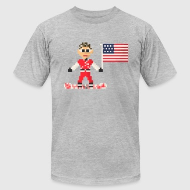 Flags Snowboarding Man on snowboard american flag - Men's Fine Jersey T-Shirt