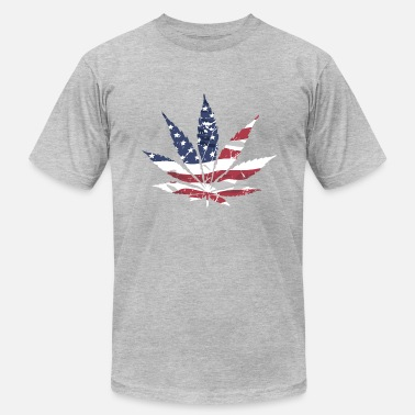 Flags Cannabis USA Cannabis Flag - Men's  Jersey T-Shirt