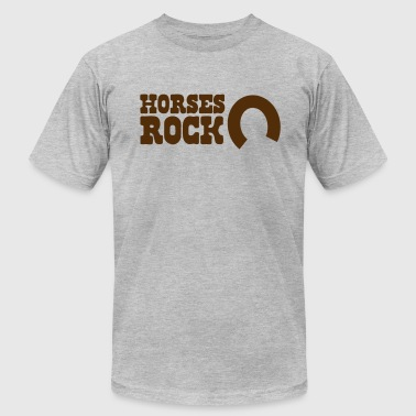 horses rock -with horseshoe - Men's Fine Jersey T-Shirt