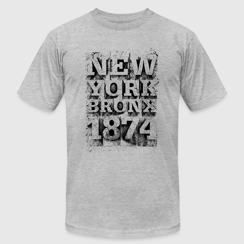 New York Bronx 1874 (black) - Men's Fine Jersey T-Shirt