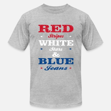 Red White Blue Stripe Red Stripes White Stars and Blue Jeans - Men's  Jersey T-Shirt
