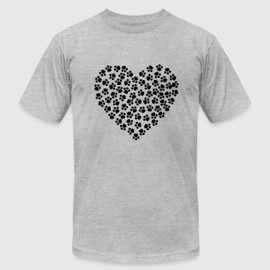 Paws Heart - Men's Fine Jersey T-Shirt