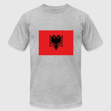 Flamuri Flag of Albania drapeau Albanie - Men's Fine Jersey T-Shirt