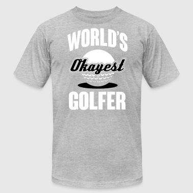 World's okayest Golfer - Men's Fine Jersey T-Shirt