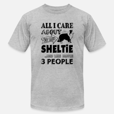 Sheltie Clothes My Sheltie 3 People Shirt - Men's Fine Jersey T-Shirt
