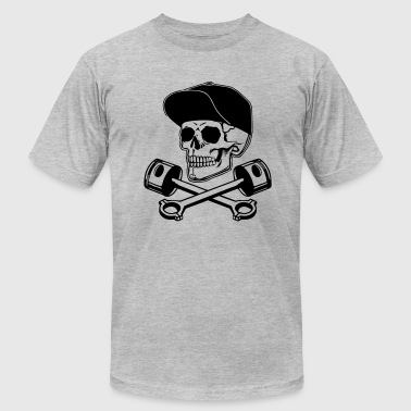 Skull Piston Skull and Pistons - Men's Fine Jersey T-Shirt