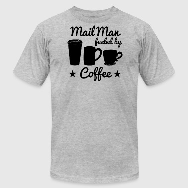 Mail Man Fueled By Coffee - Men's Fine Jersey T-Shirt