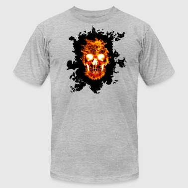 Fire Skull Skull On Fire - Men's Fine Jersey T-Shirt