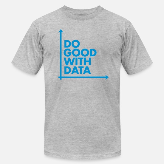 Geek T-Shirts - Do Good With Data Line Graph - Men's Jersey T-Shirt heather gray