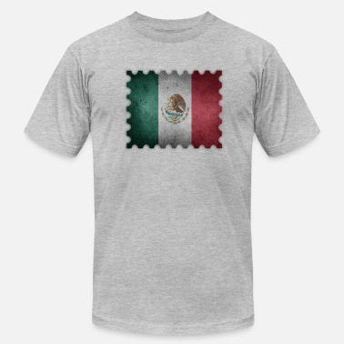 Stencil Cities Mexico retro stamp - Men's Fine Jersey T-Shirt