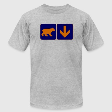Bear with a Down Arrow Clothing Apparel shirts - Men's Fine Jersey T-Shirt