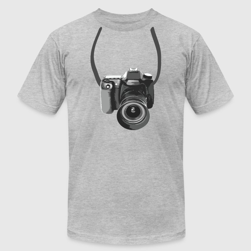 Photographer Camera Around The Neck - Men's Fine Jersey T-Shirt
