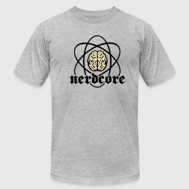 Nerdcore Atomic Brain 2c - Men's Fine Jersey T-Shirt