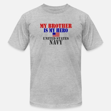 Brother My Hero USAts BROTHER HERO NAVY heroes - Men's Fine Jersey T-Shirt