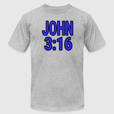 Big Johns Dave The Cat Big Word Tee! John 3:16 - Men's Fine Jersey T-Shirt
