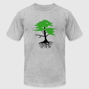 Tree with roots, 2 colors - Men's Fine Jersey T-Shirt