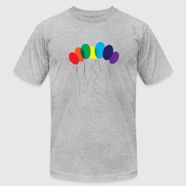 Gays Balls Gay Rainbow Balloon - Men's Fine Jersey T-Shirt