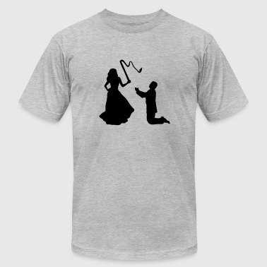 Woman & Whip, Marriage - Men's Fine Jersey T-Shirt