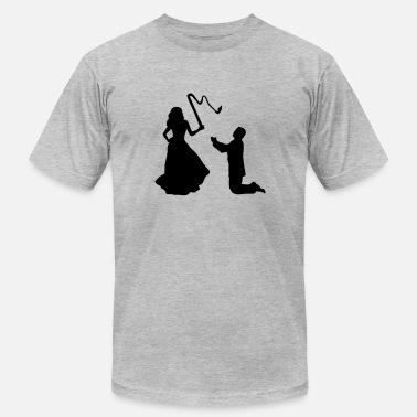 Stupid Bachelor Party Woman & Whip, Marriage - Men's Fine Jersey T-Shirt