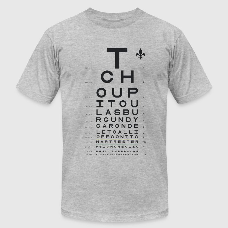 New Orleans Eye Chart - Men's Fine Jersey T-Shirt