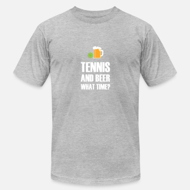 Tennis Jokes Tennis And Beer gift for Tennis Player - Men's Fine Jersey T-Shirt