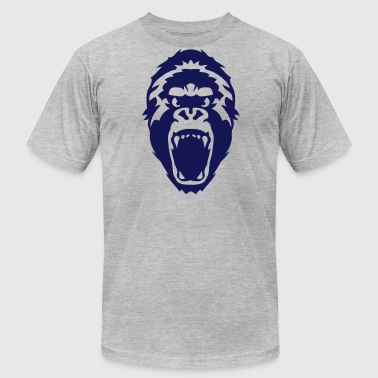 gorilla head wild animal - Men's Fine Jersey T-Shirt