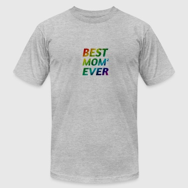 Lesbian Mummy Best Lesbian Gay Gay 2 Mommies Ever Mother's Day - Men's Fine Jersey T-Shirt