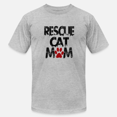Rescue Cat Mom Rescue cat MOM - Men's Fine Jersey T-Shirt