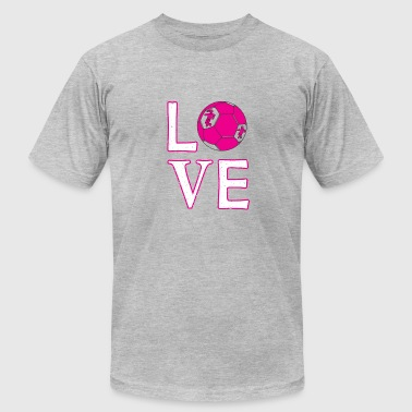 Soccer Love Girl Shirt - Men's Fine Jersey T-Shirt