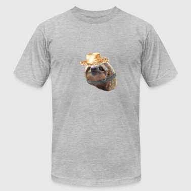 Sloth Monacle straw Sloths In Clothes - Men's Fine Jersey T-Shirt