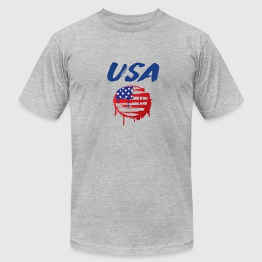 USA Graffiti Flag - Men's Fine Jersey T-Shirt