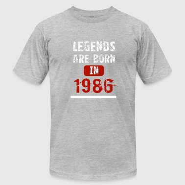 Legends Are Born In 1986 - Men's Fine Jersey T-Shirt