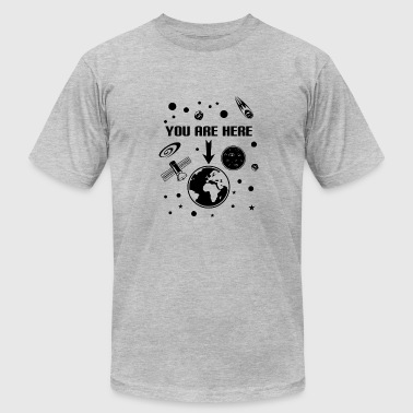 Outer Space Music You Are Here Outer Space - Men's Fine Jersey T-Shirt