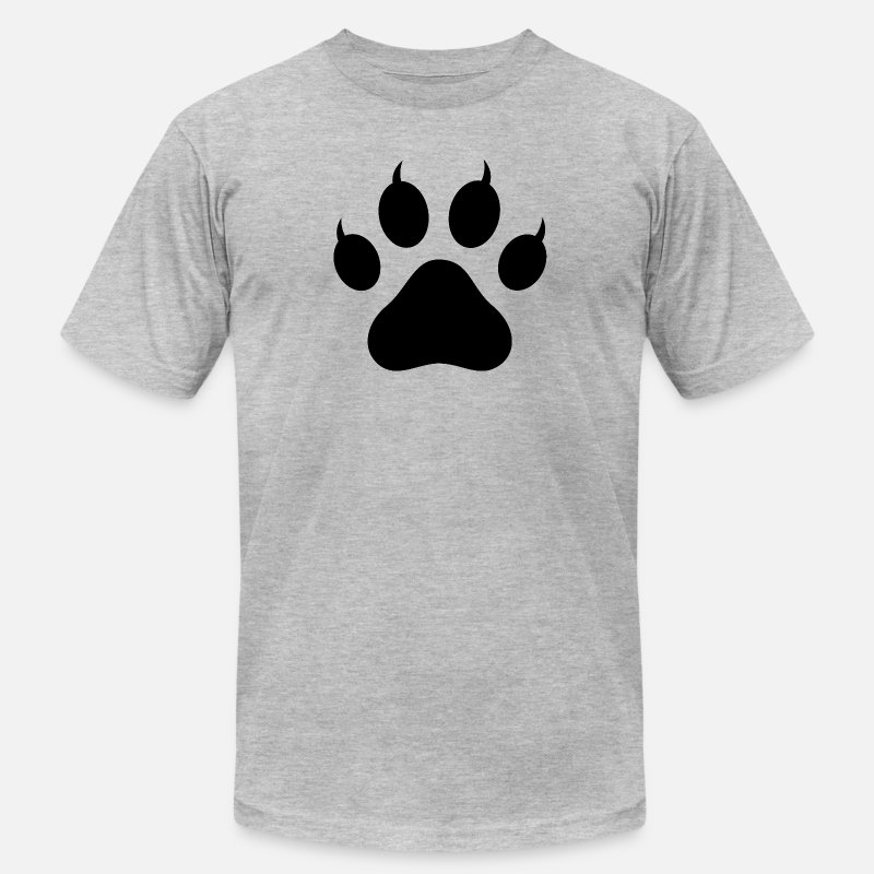 Silhouette T-Shirts - Tiger Paw Silhouette - Men's Jersey T-Shirt heather gray
