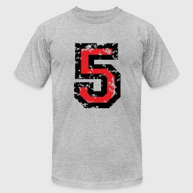 The Number Five - No. 5 (two-color) red - Men's Fine Jersey T-Shirt