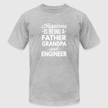 Engineer Father Father Grandpa and Engineer - Men's Fine Jersey T-Shirt